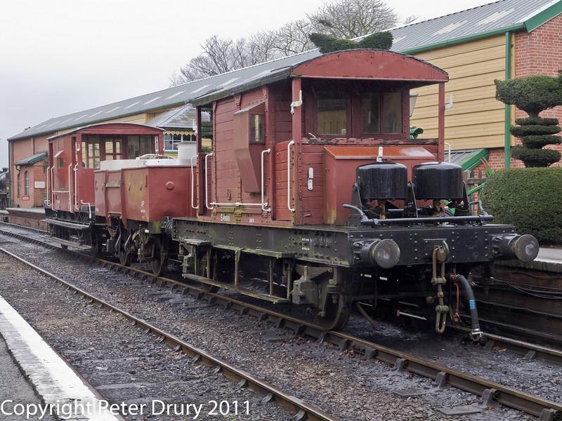 26 January 2011. Ropley:- Short goods train.  Copyright Peter Drury 2011
