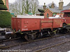 26 January 2011. Ropley:- BR 13 ton dropside wagon.  Copyright Peter Drury 2011<br /> Loaded with engine parts for delivery to the shed.