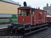 26 January 2011. Ropley:- BR Brake Van.  Copyright Peter Drury 2011