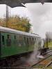30 Oct 2011 Gresley NER tank loco 1744 departs Ropley for Alresford.