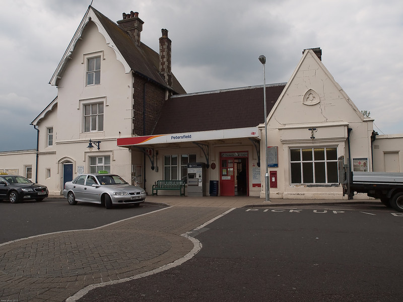 Petersfield Railway Station. Copyright Peter Drury 2010<br /> The station entrance.