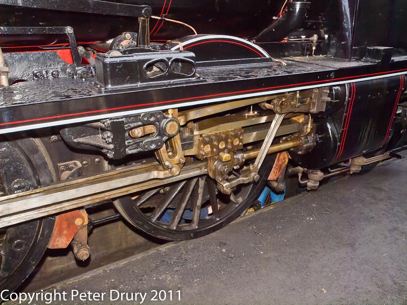 26 January 2011. Ropley:- 31806 SR Class U, awaiting boiler inspection 27 Jan following overhaul.  Copyright Peter Drury 2011