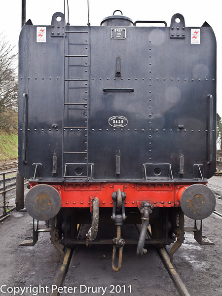 26 January 2011. Ropley:- 92212 BR Standard 9F. Detail shots.  Copyright Peter Drury 2011