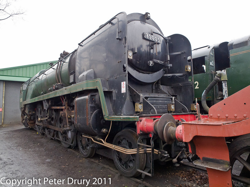 26 January 2011. Ropley:- 35005 Canadian Pacific, Awaiting overhaul.  Copyright Peter Drury 2011