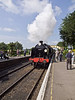 11 Jun 2011. 31806 (SR U class) arrives at Ropley with th train from Alton. Copyright Peter Drury 2011