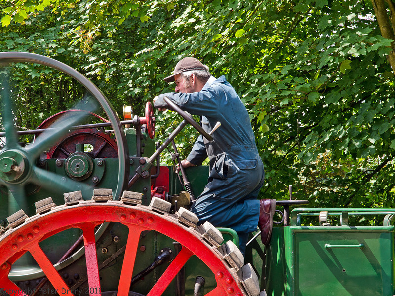 11 Jun 2011. War on the Line. The steam traction engine was still in widespread use on farms and construction work such as road building. Several engines were working on display in the station car parks. This was one of two at Medstead and Four Marks. Copyright Peter Drury 2011