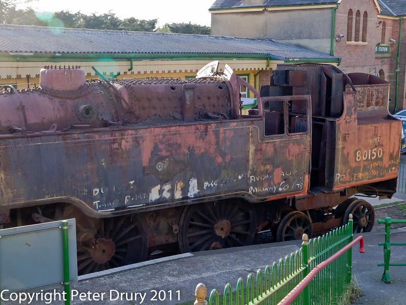 30 January 2011. Alresford - 80150 BR Class 4MT A/W overhaul.  Copyright Peter Drury 2011