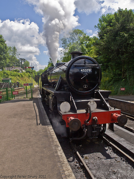 11 Jun 2011. War on the Line. 45379, Black 5, at Alresford. Copyright Peter Drury 2011