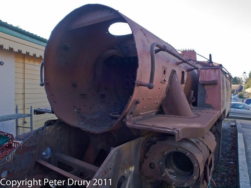30 January 2011. Alresford - 80150 BR Class 4MT A/W overhaul.  Copyright Peter Drury 2011<br /> Smoke box