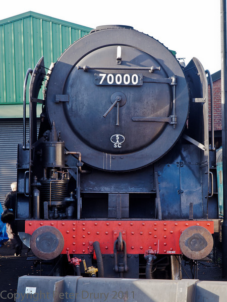 22 Oct 2011 BR Standard Class 7 No 70000 'Brittania'. Another main line certified visitor.