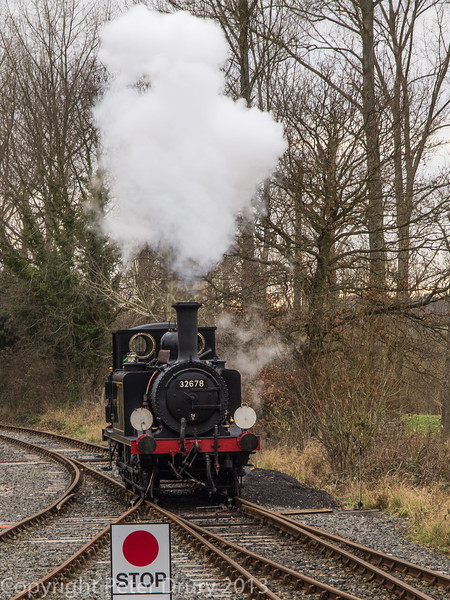 Class A1x 32678 running round its train at Bodiam