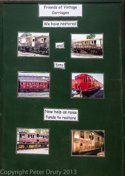 Appeal notice board outside the Carriage Works at Tenterden Town station