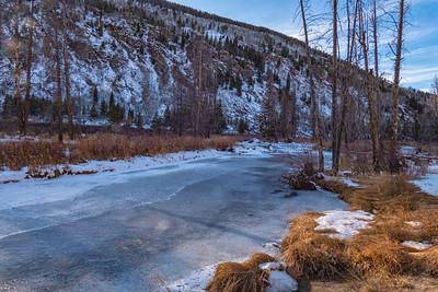 Tennessee Creek 2 Frozen Rocky Mts Near Leadville CO  11-3-19