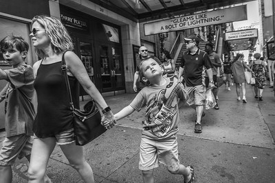 Boy with Mother, West 42nd Street