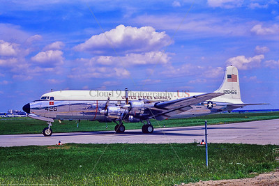 C-118-USMC 033 A taxing Douglas VC-118B Liftmaster USMC 128426 6-1971 Frankfurt, military airplane picture by Stephen W  D  Wolf      11A_0764     Dt