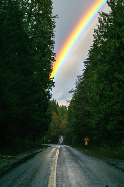 A beautiful rainbow near Breitenbush, Oregon.