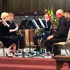 Staff photo by Cathy Spaulding<br /> Susana Jackman, left, plays flute in a woodwind quintet. Other players include, from second left, Suzanne Jones, Harvey Randall and Martin Bebb.