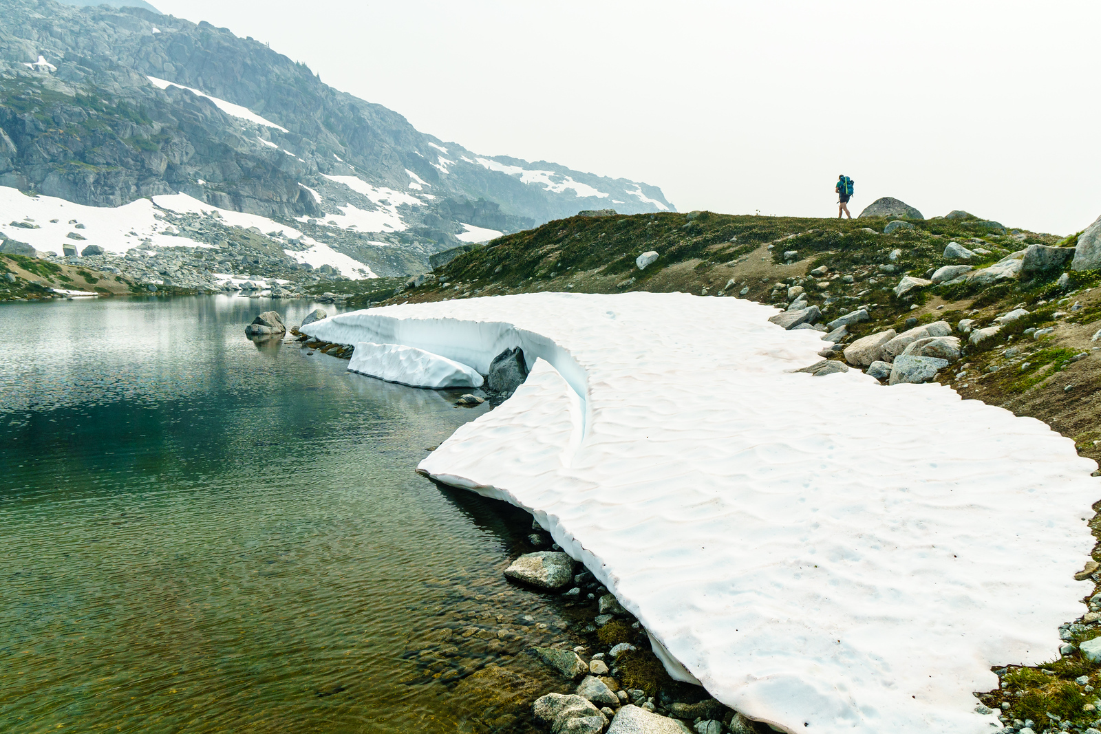 Lauren walks a trail near Heart Lake, high in the mountains above Pemberton, British Columbia.