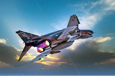 AB-F-4-USAF 004F A McDonnell Douglas QF-4E Phantom II USAF jet fighter drone 162 82 ATRS HD code in afterburner, 2016, military airplane picture by Peter J Mancus     Dt