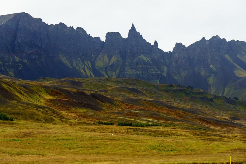 A ridgeline in the northeast corner of Iceland.