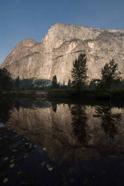 Reflections in Merced River, Yosemite National Park, California