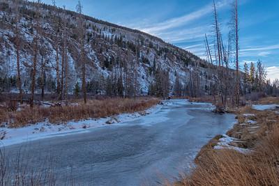 Tennessee Creek Frozen Rocky Mts 2 Near Leadville CO  11-3-19