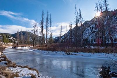 Tennessee Creek Frozen Rocky Mts Near Leadville CO  11-3-19