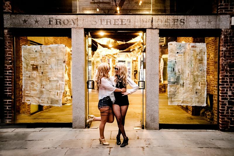 Elsa and Phaedra Greene of Casket Girls - South Street Seaport, NYC - August 1st, 2014