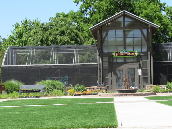 Staff photo by Cathy Spaulding<br /> New walkways and an artificial turf lawn are among the new amenities at the Papilion.