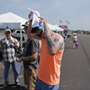 Staff photo by Harrison Grimwood<br /> John-Michael Johnston of Texas uses a self-cooling towel during the inaugural day of G Fest.