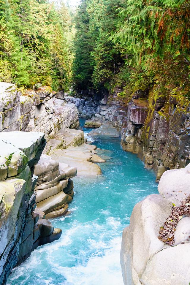 The Ashlu Creek Canyon near Squamish, British Columbia.
