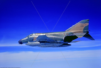 F-4D-USAF-81 TFW 002 A McDonnell Douglas F-4D Phantom II USAF jet fighter 50692 81st TFW in cam over North Sea 5-1969, by Eric Thompson via Stephen W  D  Wolf coll      11A_1244     DoneWT