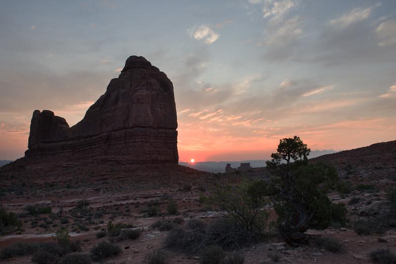 Sunrise in Arches National Park, Utah