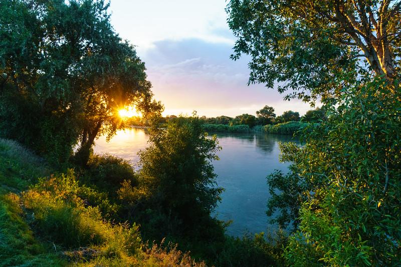 Sunset over the Snake River Plain near Shelley, Idaho.