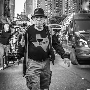 Man with Shirt, West 42nd Street