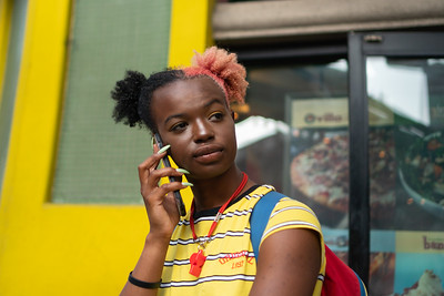 Woman with Phone, Ninth Avenue