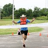 Special photo by John Hasler<br /> Clay Turner of Eufaula wins the regular course race at the Port to Fort Adventure Race on Saturday at Three Forks Harbor.