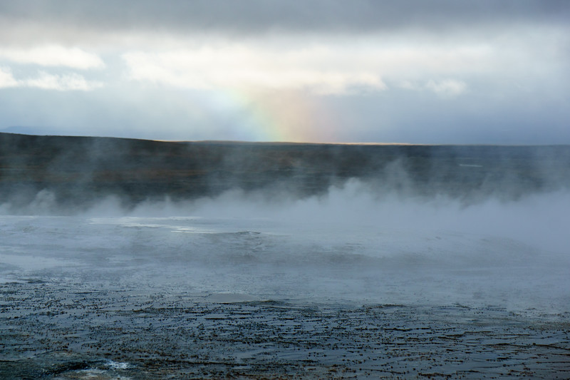 Beautiful geysers and hot springs at Hveravellir, Iceland.