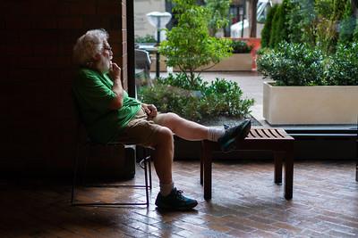 Man in Lobby, West 43rd Street
