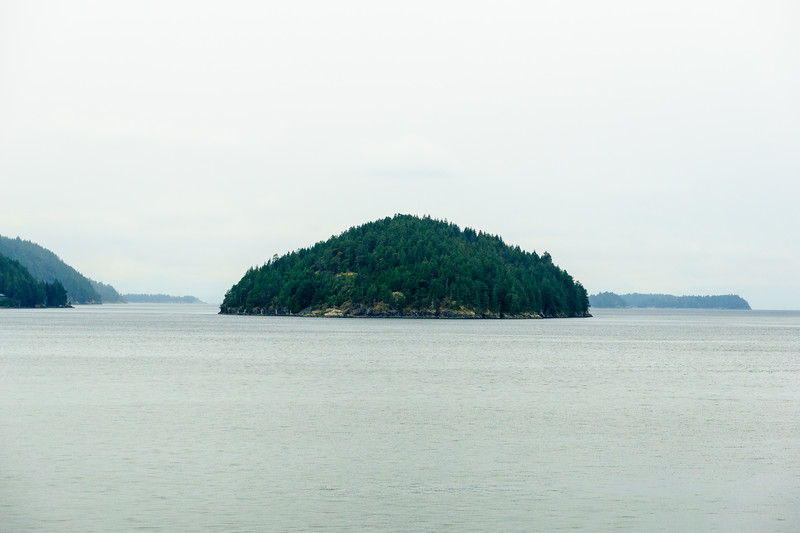 An island in Howe Sound, British Columbia.