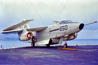 A-3-USN-VAH-10 001 A Douglas KA-3B Skywarrior USN aerial refuler 142253 VAH-10 VIKINGS on JFK at Naples 1969, military airplane picture by Bruce Wilson via Stephen W  D  Wolf coll      853_9115     DoneWT