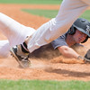 Special photo by Von Castor<br /> Three Rivers' Chancey Scott slides into third base for a triple Saturday afternoon at Hilldale.
