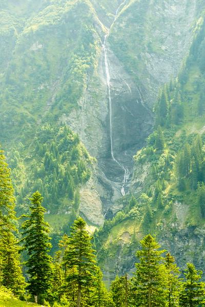 A waterfall above Elm, Switzerland.