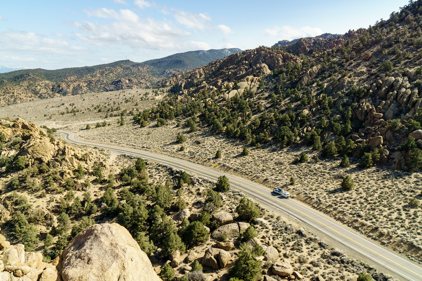 Life on the road; near the California / Nevada border in the Eastern Sierras.