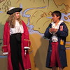 "Staff photo by Cathy Spaulding<br /> Above, Captain Hook (Riley Raasch, left) gets a less than flattering report from Smee (Shiloh Moore) in the Summer Youth Theatre production of ""Disney's Peter Pan Jr."""