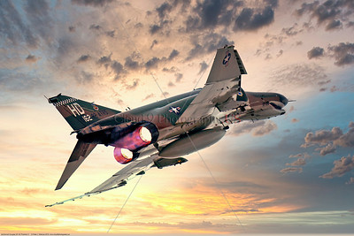 AB-F-4-USAF 004E A McDonnell Douglas QF-4E Phantom II USAF jet fighter drone 162 82 ATRS HD code in afterburner, 2016, military airplane picture by Peter J Mancus     Dt