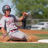 Special photo by Von Castor<br /> Fort Gibson's Bailey Harris slides into third base during the first inning of the first game Thursday against McLain at Carr-O'Dell Tiger Field. Fort Gibson won 19-0 and then capped the sweep with a 15-0 win.