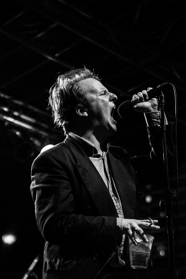 Joe Casey of Protomartyr - South Street Seaport, NYC - July 11th, 2014