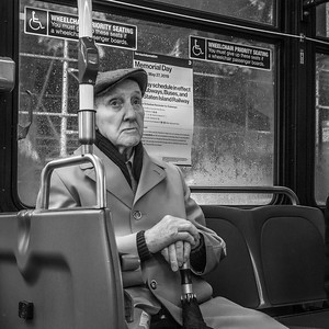 Man on Bus, 34th Street