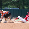 Special photo by Von Castor<br /> Fort Gibson's Ali Christie slides into second base as Tahlequah's Claire Barker tries to get the put out Thursday afternoon in the Class 6A regionals.